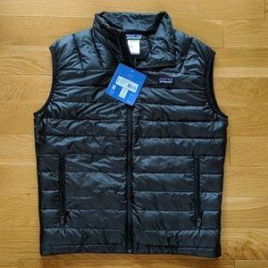 PATAGONIA Down Sweater Vest Mens S Black Puffer
